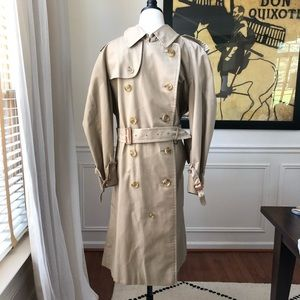 Vintage Burberry London Classic Trench Coat US 40S
